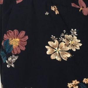 Carolina Belle Pants - Carolina Belle Navy Floral Print Pants Size 4